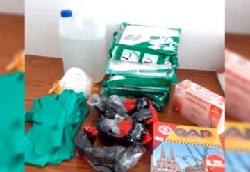 Elementos de bioseguridad para los bomberos de Mechita