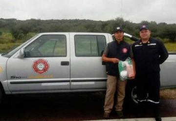 Bomberos Voluntarios recibieron equipos de bioseguridad