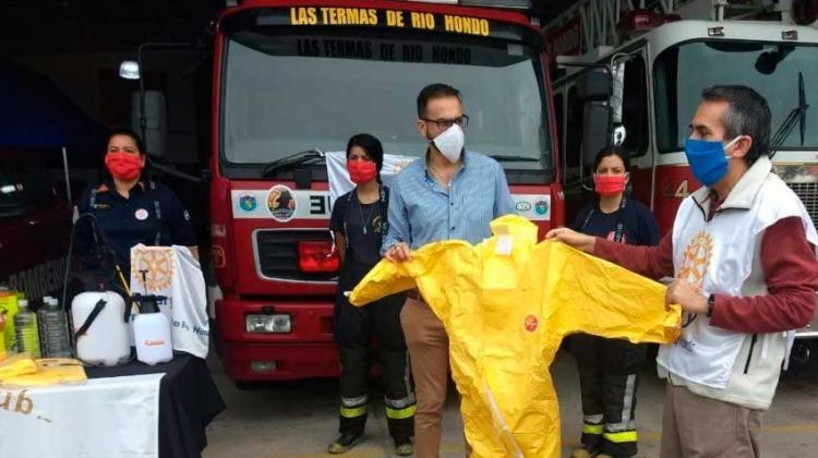 Rotary Club entregó una importante ayuda para los Bomberos de Las Termas
