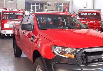 Bomberos de Carlos Casares con nueva camioneta
