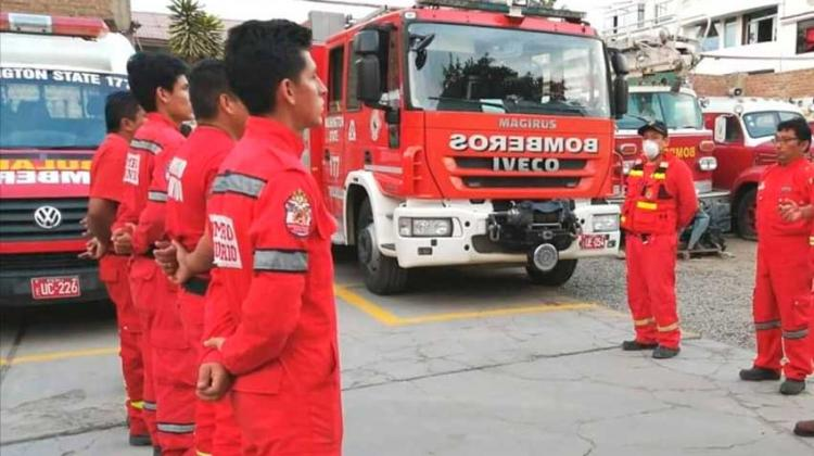 Dos bomberos dieron positivo al coronavirus y piden más pruebas