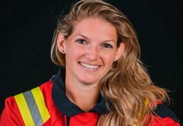 Primera bombera de España instructora de alto nivel
