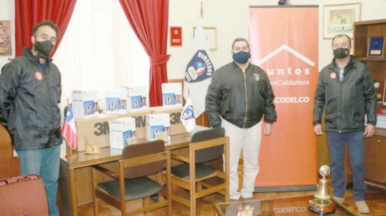 Bomberos de Los Andes recibió elementos de protección personal