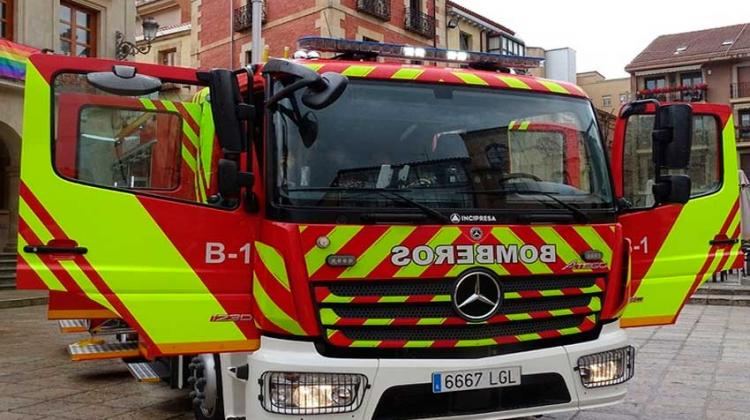 Bomberos de Soria estrenan un nuevo camión autobomba