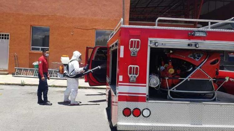 Dan positivo a coronavirus dos bomberos en Pachuca