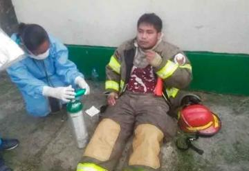 Agreden a Bombero en una emergencia en Moronacocha