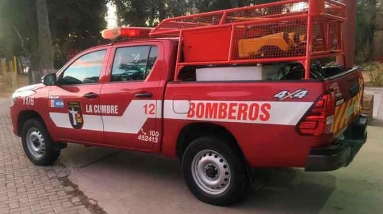 Bomberos de La Cumbre reforzaron unidad contra incendios
