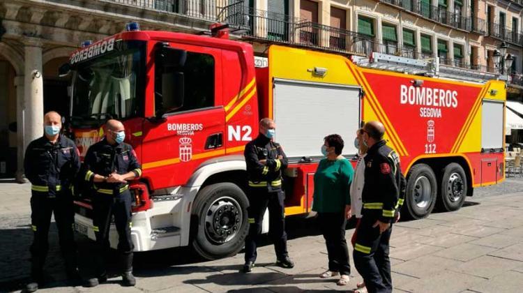 Nuevo vehículo para los bomberos de Segovia