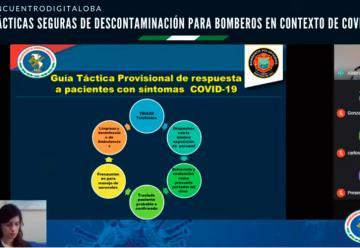 Bomberos de Santiago participó en seminario sobre descontaminación