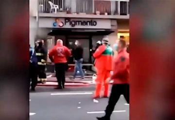 Video: Explosión en perfumería de Villa Crespo