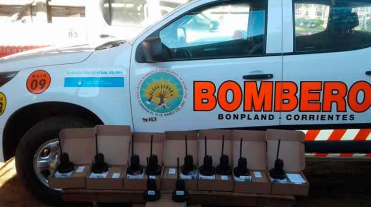 Nuevos equipos para Bomberos Voluntarios de Bonpland