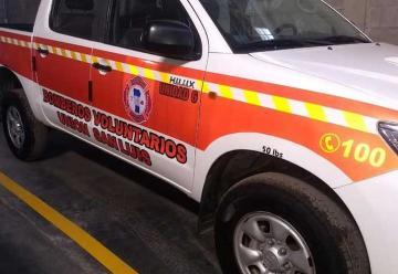 Nueva camioneta forestal de Bomberos Voluntarios Unión