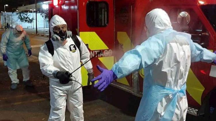 Bomberos de Santiago con Nuevas medidas de Protección Personal