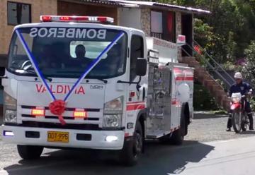Nuevo Camión Cisterna para Bomberos de Valdivia