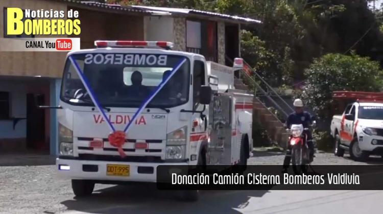 Donación Camión Cisterna Bomberos Valdivia
