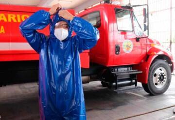 Bomberos Voluntarios reciben donación de trajes