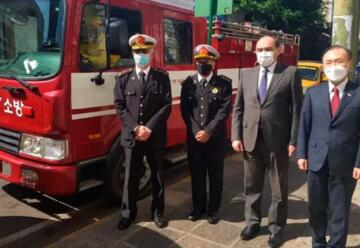 Embajada de Corea dona vehículos a Bomberos Voluntarios