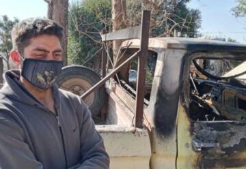 Le quemaron la camioneta a un bombero porque creían que tenía coronavirus