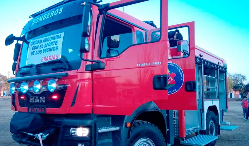 Nuevo autobomba adquirido por Bomberos voluntarios de Las Varillas