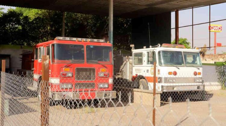 Estación de bomberos de Vícam en total abandono