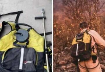Buscan mochila y casco perdido por un bombero en un incendio