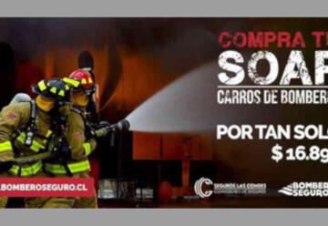 Bomberos de Chile firma convenio adquisición de SOAP para carros