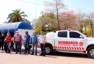 Nueva camioneta para los bomberos voluntarios de San Bernardo
