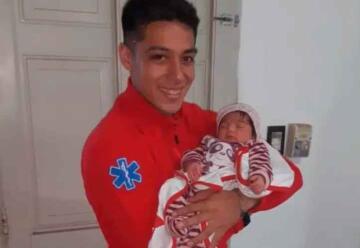 Un bombero de Patagones le salvó la vida a una beba