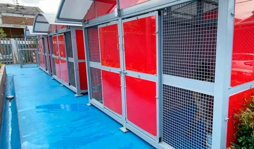 nuevo centro de entrenamiento canino del Cuerpo de Bomberos de Bogotá