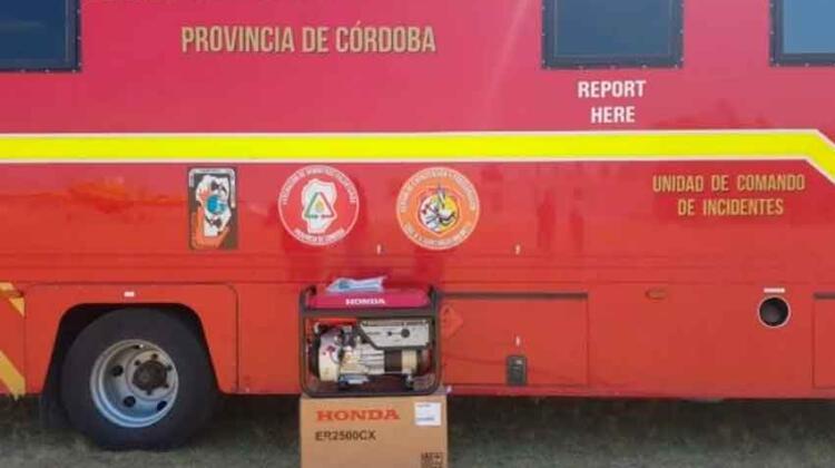 Reemplazaron el generador eléctrico robado a los bomberos