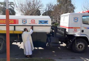 Nuevo camión cisterna de Bomberos Voluntarios de Alta Italia