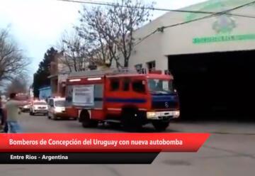 Bomberos de Concepción del Uruguay adquirió nueva autobomba