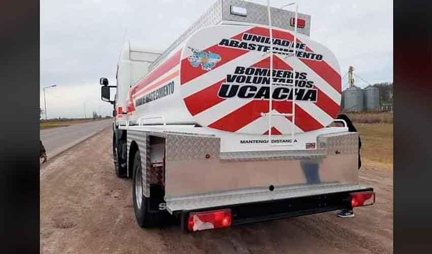 Bomberos Voluntarios de Ucacha con nueva unidad