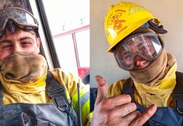 """""""No era mi hora"""": testimonio de un bombero rodeado por el fuego"""