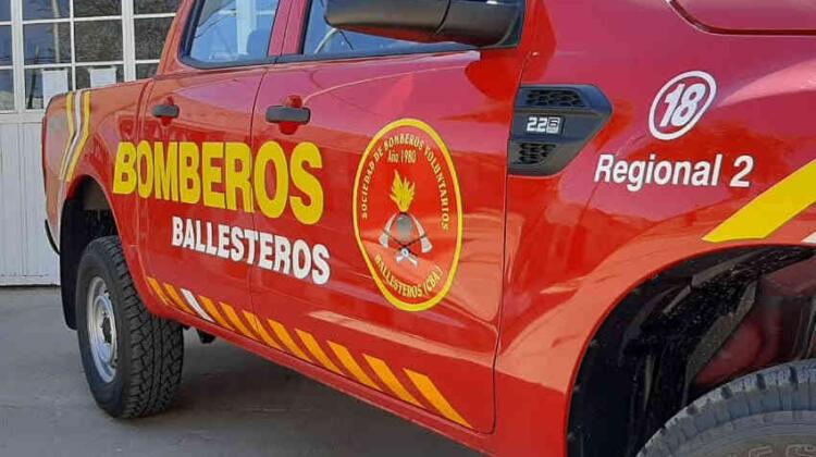 Bomberos Voluntarios de Ballesteros con nueva unidad
