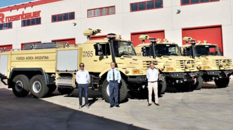 Nuevos camiones Contraincendio para la Fuerza Aérea