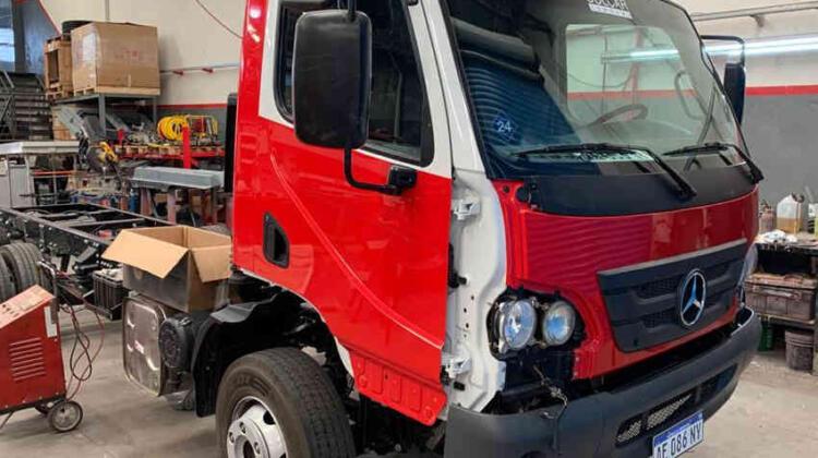 Avanza el carrozado del nuevo móvil de bomberos voluntarios