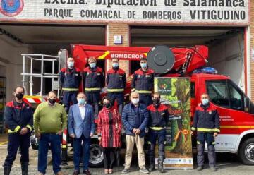 Incorporan un nuevo camión al parque de Bomberos de Vitigudino