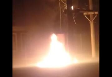 Un bombero sufrió una lesión en un incendio de un transformador