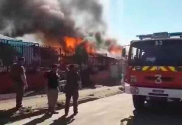 Bombero sufre lamentable accidente mientras combatía un incendio