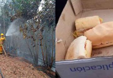 Destrato a los bomberos voluntarios: «Sólo nos dan para comer un sándwich»