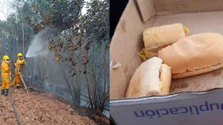 """Destrato a los bomberos voluntarios: """"Sólo nos dan para comer un sándwich"""""""