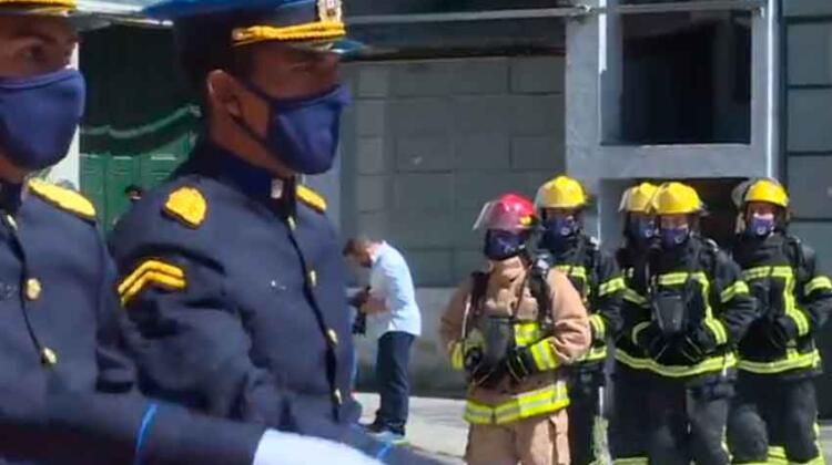 Bomberos de uruguay celebró los 133 años de su creación