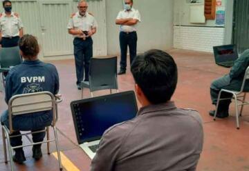 Rindieron examen los futuros Bomberos de Chubut