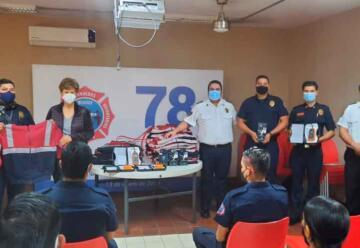 Bomberos Mazatlán recibe equipo y maquinaria