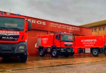 Bomberos incorporan dos nuevos camiones y una autobomba forestal