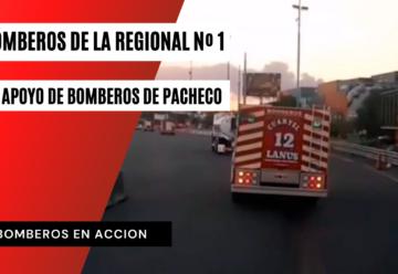 Bomberos de la Regional Sur en Apoyo de Bomberos de Pacheco