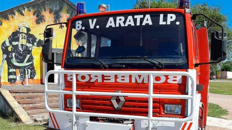 Bomberos de Arata incorporación de un camión forestal