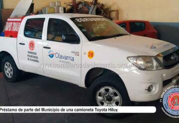 Bomberos Voluntarios de Olavarría sumó una camioneta y equipamiento