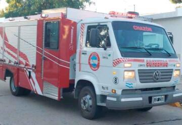 Bomberos de Chazón con nueva unidad para incendios y accidentes